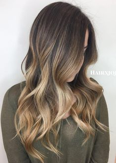 50 Ideas for Light Brown Hair with Highlights and Lowlights Bronde Ombre Balayage Pour Cheveux Bruns Dark Brown Hair With Blonde Highlights, Brown Ombre Hair, Balayage Hair Blonde, Ombre Hair Color, Light Brown Hair, Light Hair, Brown Hair Colors, Hair Highlights, Bronde Balayage