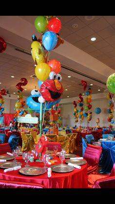 D'Angelo bday party ideas Boys 1st Birthday Party Ideas, Monster Birthday Parties, Elmo Party, Elmo Birthday, First Birthday Parties, Mickey Party, Dinosaur Party, Dinosaur Birthday, Sesame Street Party