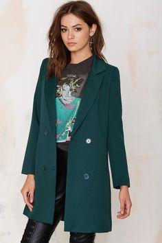 Lioness Jordan Tuxedo Jacket - Forest Green - Blazers | Coats