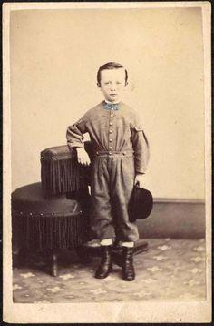 "Cdv of boy.Backmark of ""Patton & Lee, Reading, PA""."