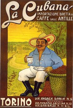 bigLaCubana La Cubana, café Vintage Ads, Vintage Posters, Vintage Travel, Cuban People, Cuban Coffee, Cuban Art, Beach Posters, Havana Nights, Coffee Truck