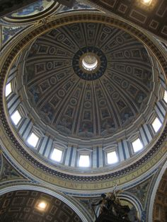 St. Peter's Basilica interior of dome.