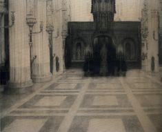 1904 In Bruges a Church, Fernand Khnopff