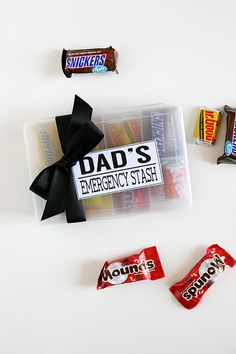 Dad's Emergency Stash Plastic Organizer Box, Organiser Box, Food Crafts, Holiday Foods, Hole Punch, Craft Stores, Fathers Day Gifts, Wood Signs, More Fun