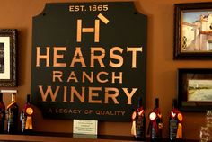HEARST RANCH Winery Tasting Room; historic and authentic place to visit.