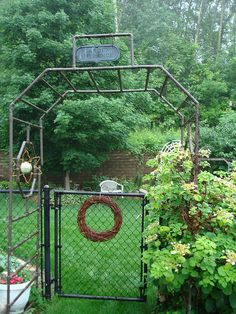 Arbor made from copper pipe. . .beginning of the season