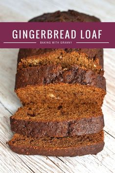 The perfect autumn bake. Warm, rich, sticky and perfect smothered in butter. Easy recipe which tastes delicious! Cake Recipes Uk, Loaf Recipes, Sweet Recipes, Cookie Recipes, Dessert Recipes, Quick Bread Recipes, Gingerbread Loaf Recipe, Gingerbread Cake, Gingerbread Houses