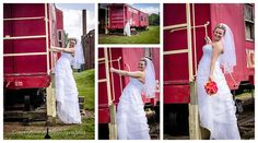 We Love to have fun on our sessions. Bridal portrait with a train in Dallas, NC.  www.CamparaPhotography.com