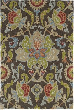 Pinned from RugLots - Kaleen // Home And Porch Chocolate Outdoor Indoor Kaleen Rug (2042-40)