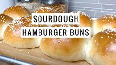 Sourdough Hamburger Buns Recipe, Best Homemade Bread Recipe, Sourdough Brioche Recipe, Vegan Hamburger Buns, Bagel Recipe, Sourdough Recipes, Sourdough Bread, Best Burger Buns, Recipes