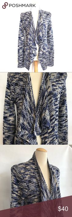 """NWOT Skies are blue cardigan M NWOT Skies are blue cardigan Size medium Chest 44"""" Length 26"""" Blue/ cream knit Skies Are Blue Sweaters Cardigans"""