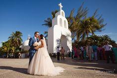Nuestra Señora del Carmen Church // Destination Wedding in Riviera Maya by Monica Lopez Photography