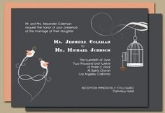 Love Birds in Orange/Peach on Gray