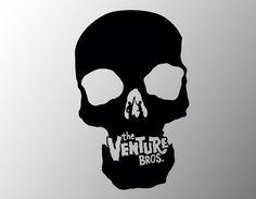 Venture Bros. Skull Logo vinyl sticker decal by IMadeThisVinyl on Etsy https://www.etsy.com/listing/125669625/venture-bros-skull-logo-vinyl-sticker