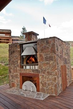 Wow... luxurious. Brick oven...