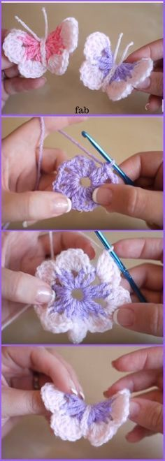 Easy Crochet Butterfly Kostenloses Muster-Video DIY Crochet Butterfly Kostenloses Muster-Video Easy Crochet Butterfly Free Pattern-Video Source by totius Crochet Diy, Crochet Simple, Crochet Motifs, Crochet Amigurumi, Crochet Gifts, Crochet Ideas, Easy Crochet Flower, Crochet Cord, Crochet Appliques