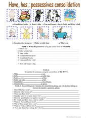 POSSESSIVE CASE 1 + KEY worksheet - Free ESL printable worksheets made by teachers