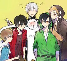 Mekakucity Actors - Hibiya, Shintaro, Konoha, Seto, and Kano