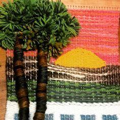 Yoya Weaving Projects, Weaving Art, Weaving Patterns, Tapestry Weaving, Loom Weaving, Hand Weaving, Weaving Techniques, Happy Smile, Texture Art