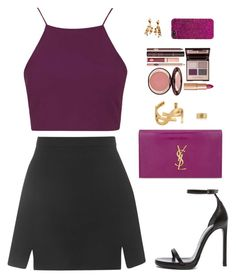 """Sin título #3480"" by iammariadelmarbieber on Polyvore featuring moda, Topshop, Yves Saint Laurent y Charlotte Tilbury"