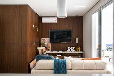 69 m² com cara de 120 m²: casal sem filhos aposta em amplitude