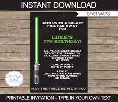 Printable Star Wars Invitation Template