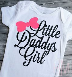 Little Daddy's Girl  Father's Day Vinyl Shirt by HMembroideryCo