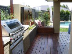 Pergola For Small Patio Outdoor Areas, Outdoor Rooms, Outdoor Decor, Outdoor Living, Roof Design, Deck Design, Deck Ideas Australia, Indoor Outdoor Kitchen, Front Porch Design