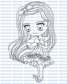 Digital Digi Stamps Coloring Page Coloring for by artbymiran, $2.00
