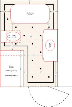 floor plan for a 8x14 bath and 11x13 bedroom | house | pinterest