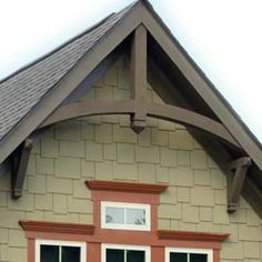 Cedar Bracket Corbel And Gable Ideas Adding For Curb Appeal Modern Style Decorative Roof Brackets Best Craftsman Exterior, Cottage Exterior, Craftsman Style, Exterior Houses, Gable Trim, Gable Decorations, Gable Roof Design, Veranda Design, Front Porch Design