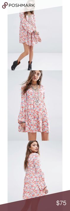 Ralph Lauren Denim & Supply Floral Boho Dress so soft and comfortable. bell sleeves. fits true to size. unworn. tag is stapled onto the label, that's how I purchased it. no trades. Price is firm. Denim & Supply Ralph Lauren Dresses