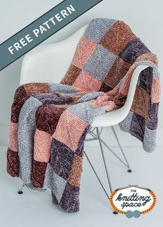 Keep yourself warm and cozy by making this simply soft knit mitered squares blanket pattern that doesn't require seaming once you're finshed. This easy knitting pattern has a motif-based, join-as-you-go construction and allows you to practice pick up and knit, center decrease, knit, knit 2 together decrease, pass slipped stitch over decrease, and working back and forth in rows techniques.| Discover over 4,500 free knitting patterns at theknittingspace.com #knitpatternsfree… All Free Knitting, Winter Knitting Patterns, Dishcloth Knitting Patterns, Easy Knitting, Mitered Square, Square Blanket, Knitted Blankets, Baby Blankets, Squares