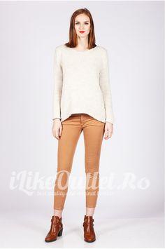 Pantaloni skinny caramizii ZW
