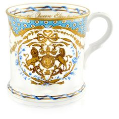 Ian Grant, of the Royal Collection Trust, which made the fine bone china pieces, said they wanted to create 'something much more personal' than previous royal ranges. The tankard (pictured) costs Hm The Queen, Her Majesty The Queen, Queen 90th Birthday, Royal Collection Trust, Stoke On Trent, Buckingham Palace, Queen Elizabeth Ii, Mugs, Bone China