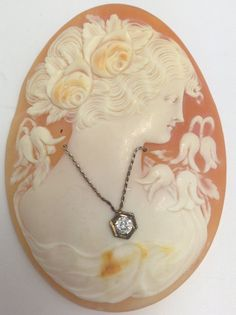 Vintage Shell Cameo  Hand carved