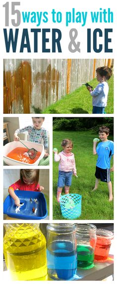 Fun water and ice activities for kids . fun water Ice and Water Activities For Kids - No Time For Flash Cards Summer Fun For Kids, Summer Activities For Kids, Games For Kids, Kids Fun, Sensory Activities, Preschool Activities, Outdoor Activities, Outdoor Games, Outdoor Fun