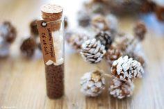 Une idée originale pour vos cadeau d'invités mariage : des éprouvettes pour faire du chocolat chaud aux chamallows