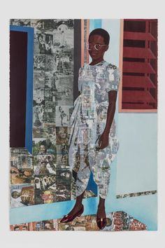"""Activist Peggy Cooper Cafritz Collected Artists of Color - Njideka Akunyili Crosby. """"The Beautiful Ones, Photo: © Njideka Akunyili Crosby African American Artist, African Artists, A Level Art, Entertainment, Black Artists, Clip, Figurative Art, Artist At Work, Art World"""