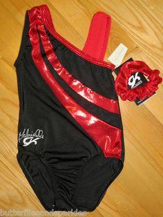 New Gabby Douglas GK Elite Gymnastics Leotard Size Girls Child Medium C M Cm | eBay