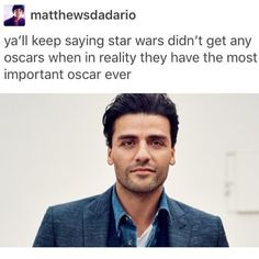 The most important, (and prettiest) oscar needed.