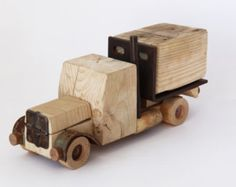 Wooden Truck Collectible truck Handmade Man by SuitCaseWorkshop