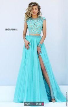 Sherri Hill Lace Beaded Dress 50110