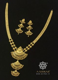"Mujra : The lissome form, the thick ball jhur, the descending rhythm of the pendant...there's something there that evokes a comely courtesan in rapture at a regal Mujra. They say,""To dance is divine."" Well, what better than to enshrine such divinity in the purest sinless 22K gold."