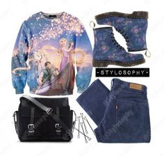 spring outfit. Has EVERYTHING I lovee! Skinny jeans, cross- body bag, doc martens and THAT TANGLED SWEATERR❤❤❤❤❤