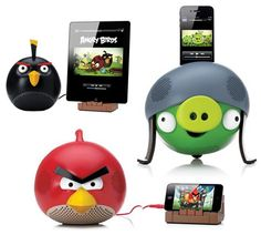 Angry Birds Speaker Docks for iPhones, ipods and iPads