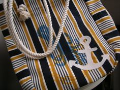 shopping tote / rope handle / octopus and anchor