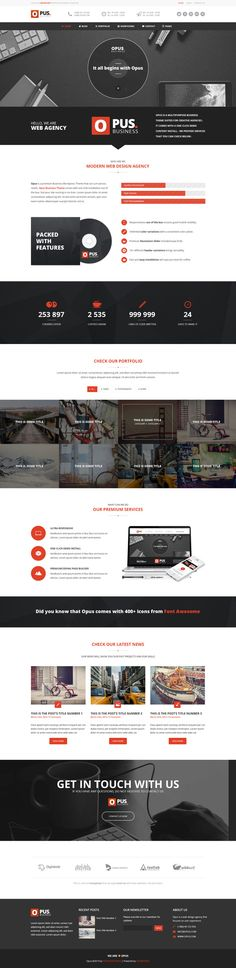 Opus - Innovative Business Template by PremiumCoding on Creative Market
