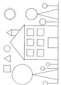 Shapes Worksheet Kindergarten, Kindergarten Coloring Pages, Printable Preschool Worksheets, Shapes Worksheets, Kindergarten Math Worksheets, Preschool Learning Activities, Free Preschool, Preschool Crafts, Math For Kids