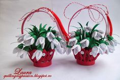 quilled snowdrops/ghiocei quilling